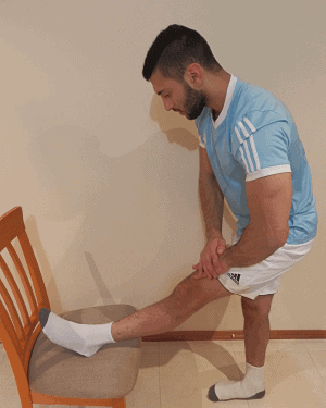 Hamstring strech as part of a sciatica exercise routine